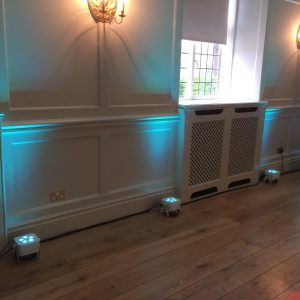 LED Uplighting By Go-DJ Featuring LEDJ 5Q5 lights with White Casing