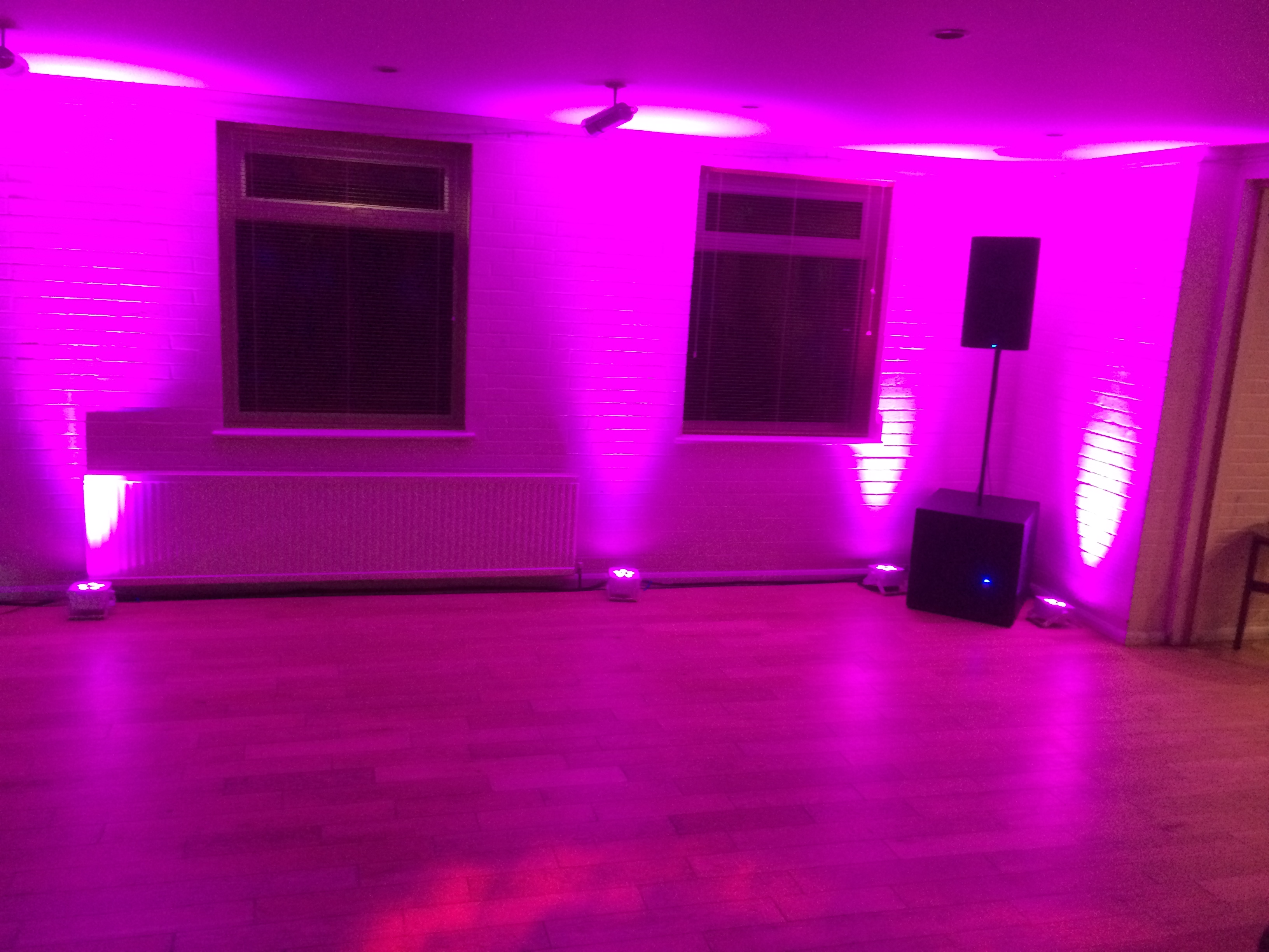 Uplighting By Go-DJ @ Holmer Green Sports Club